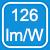 126 watts label