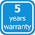 5 years warranty label