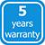 5 years warranty label