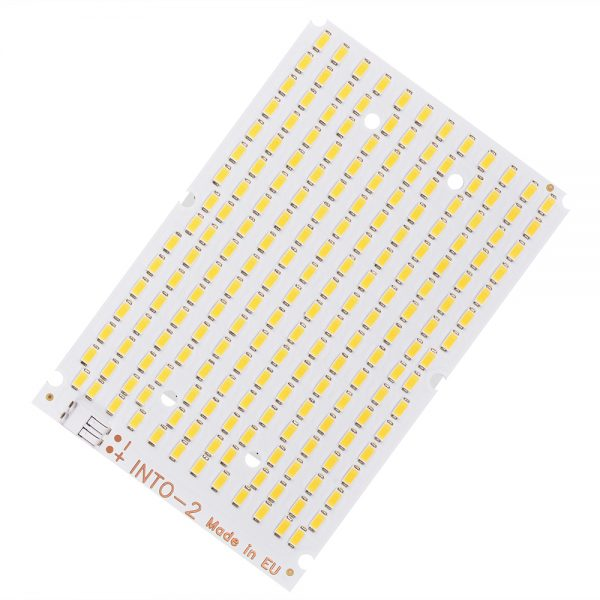 into 2 led module with rectangular pcb, white color, many diodes at high density