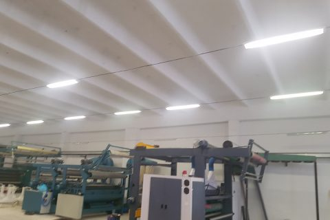 replacement of lights in factory